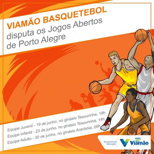 Viamão Basquetebol disputa os Jogos Abertos de Porto Alegre 2018. foto   foto  foto 742fe243404fb